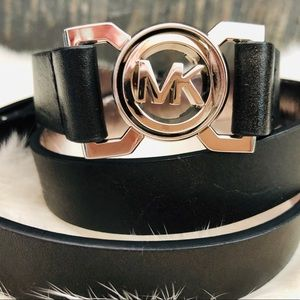 MICHAEL KORS Leather interlocking adjustable belt